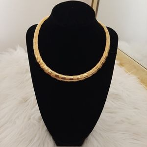 Vintage Gold Snake Chain Necklace